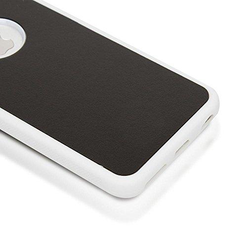 iPhone 6 6S Anti-Gravity Case Hülle von NICA, Dünne Handyhülle Zero-Gravity selbstklebende Silikon Selfie Schutzhülle, Ultra Slim Back-Cover Bumper Phone Etui für Apple iPhone 6S 6, Farbe:Schwarz Weiß