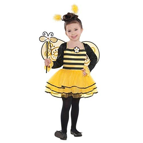 Kostüme Größe Kind Biene (Biene Kostüm Kinder 4 bis 6 Jahre Größe 104 110 114)