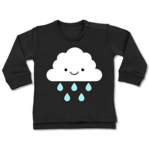 Shirtracer Karneval und Fasching Baby - Regenwolke Karneval Kostüm - 18-24 Monate - Schwarz - BZ31 - Baby Pullover