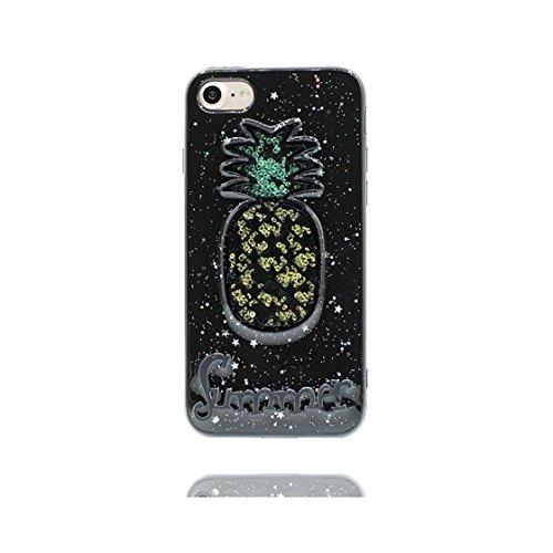 iPhone 6 Custodia, Design morbido mobile Case iPhone 6S copertura Cover Shell Graffi Resistenti [ Cartoon Noce di cocco ] e ring supporto Nero 2