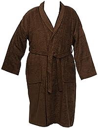1bd809cc67 Classic Home Store Unisex Plain Towelling Dressing Gown Mens Womens 100%  Cotton Wrap Around Bath