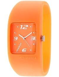 Marea nineteen - Reloj analógico de mujer de cuarzo con correa de silicona naranja - sumergible a 50 metros