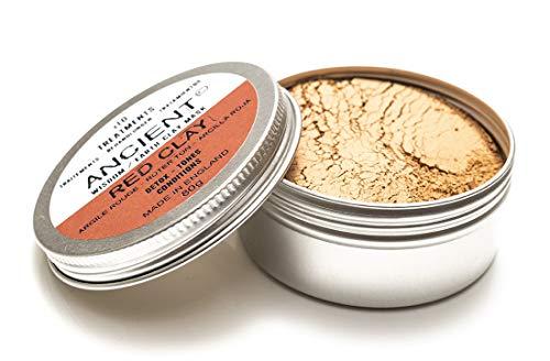 Ancient Gesichtsmaske 100% Natürliche Tonerde Gesichtspflege (Red Clay) (Body Wrap Clay)