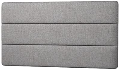 Happy Beds Cornell Lined Headboard, Fabric, Slate Grey Cotton, 4 ft 6-Inch, Double - cheap UK light shop.