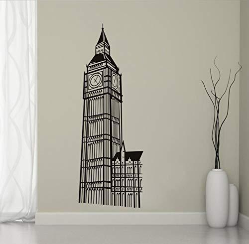 xlei Etiqueta De La Pared Extraíble Muursticker Conocido Big Ben Etiqueta De La Pared Sala De Estar Vinilo Decorativo Londres Landmark Building Home Decor