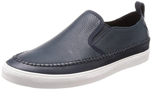 Clarks kessell slip, mocassini uomo, blu (navy leather), 39.5 eu