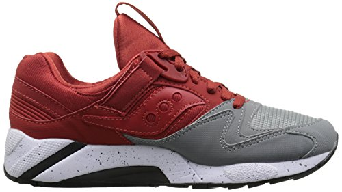 Saucony Grid 9000 Grey Red Red