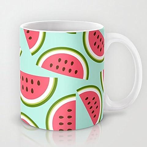 QoiueoF tazze, colore: anguria, colore: bianco, 11