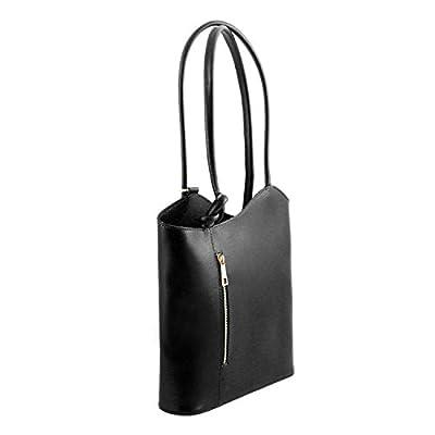 Tuscany Leather Patty - Bolso de señora en Piel Saffiano Convertible en Mochila - TL141455 (Negro)
