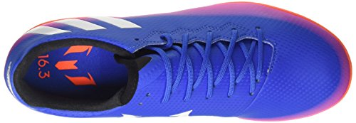 adidas Messi 16.3 In, Chaussures de Football Compétition Homme Multicolore (Blue/Ftwr White/Solar Orange)