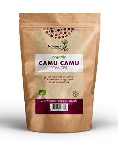 Natures Root Camu Camu in polvere Bio-Vitamina C e antiossidanti | eccellente antietà |tonifiant e stimolante