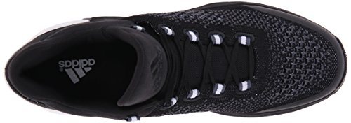 Adidas Performance 2015 Crazylight Boost Primeknit chaussure de basket, Noir / Pourpre royale Plein Black/Black/Grey
