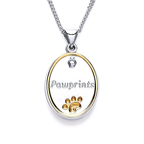 blue-cross-animal-charity-rhodium-and-gold-plated-silver-oval-pawprints-pendant-with-diamond-and-paw