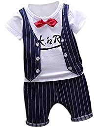 PINEsong 2PC Outfits Kleidung Kleinkind Kinder Baby Junge T-Shirt Tops+Hose