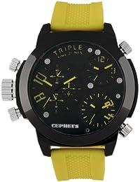 CEPHEUS Herren-Armbanduhr XL Analog Quarz Silikon CP902-620C