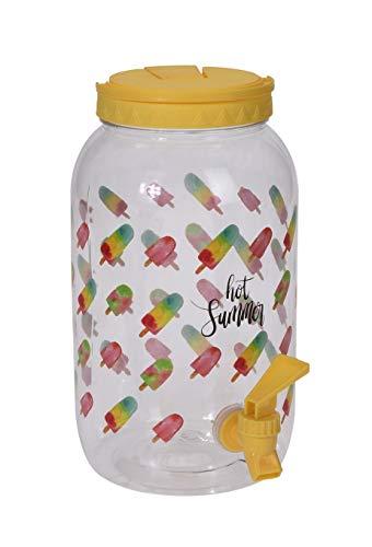 Meinposten. Saftspender Getränkespender mit Zapfhahn 3,75 Liter Kunststoff Wasserspender (EIS, gelb)