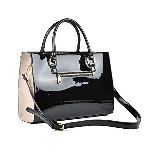 Premium Leather , Sac à main pour femme Noir