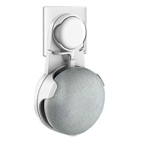 Wigoo Wandhalterung für Google Home Mini, kompakte Lösung für Ihren Smart Home Lautsprecher ohne unordentliche Drähte oder Aufkleber, geeignet für Küche, Bad und Schlafzimmer (Weiß)