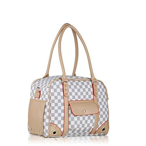 Groß Transportbox Auto Transporttasche Hundetasche Tragetasche für kleine Hunde und Katzen Handtasche 35*27*20cm PC09