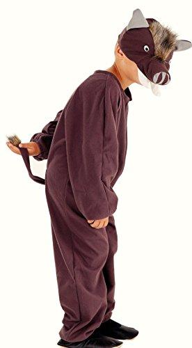 Magicoo Wildschwein Kostüm für Kinder - Schwein Kostüm -