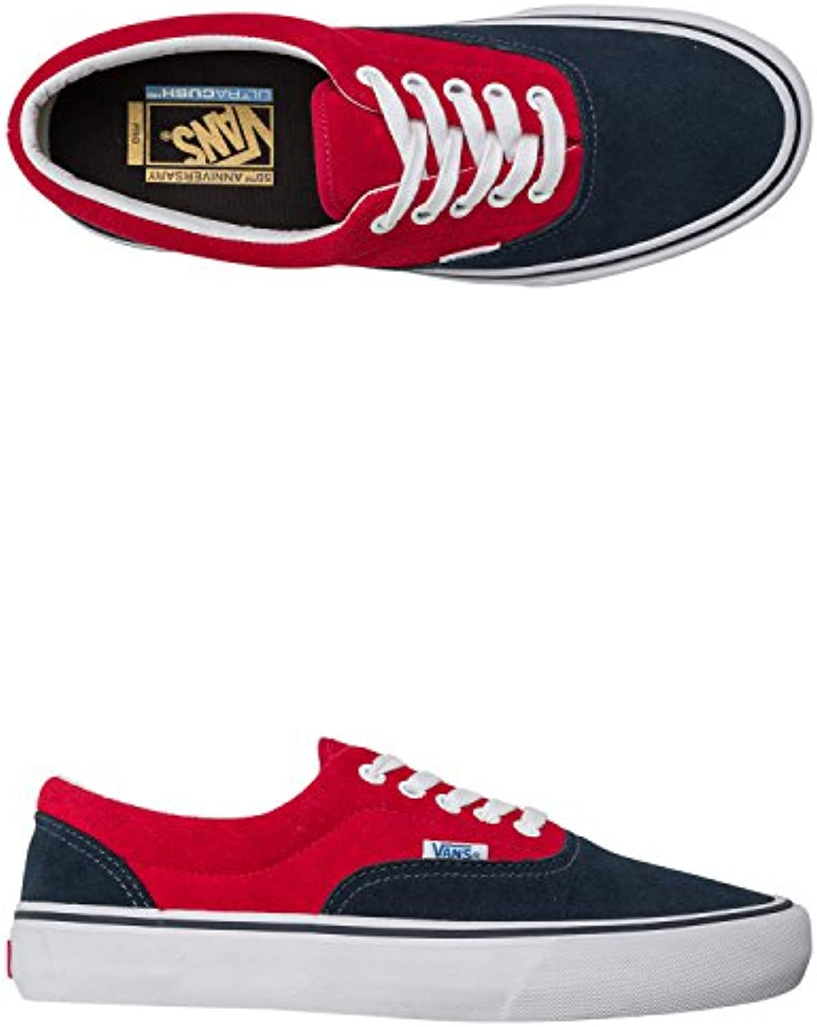 Vans Era Pro '76 50th Navy Blue/Red 9.5uk  -