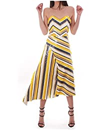 Kevan Jon Alessa Asymmetric Dress Yellow