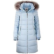 0a9748f9c3 Grimada 7M56M Damen Winterjacke Mantel in Daunen-Optik TARORE mit  Echtfellkapuze