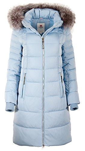 Grimada 7M56M Damen Winterjacke TARORE mit Echtfellkapuze (36, hellblau)