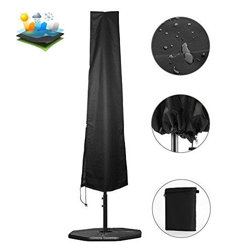 YAMI Wasserdichte Sonnenschirm Abdeckung Passt 9ft zu 11ft Cantilever Regenschirme für Garten versetzter Sonnenschirm mit Aufbewahrungs Reißverschlusstasche (Sonnenschirm 9 Ft)