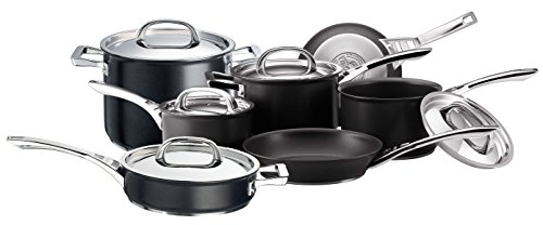 Circulon Infinite Hard Anodised Cookware Set, 7-Piece - Black