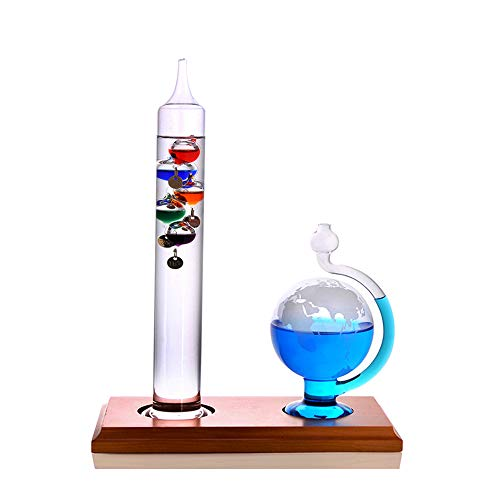 Wzz Galileo Thermometer Und Barometer Dekoration Wohnaccessoires Kreatives Geburtstagsgeschenk-Valentinstaggeschenk Thermometer Aus Glas