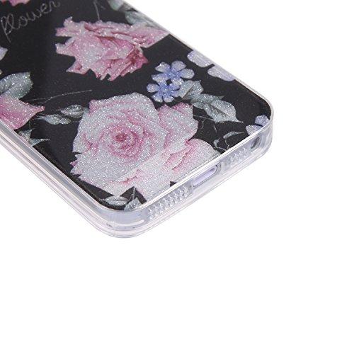 Coque iPhone 6 Plus / 6S Plus, Chreey Ultra-mince Paillette Élégant Mignon Tempérament Doux Mode Téléphone Case Glitter TPU Silicone Souple Coque Etui de Protection Anti-rayures Couverture Arrière [pa roses