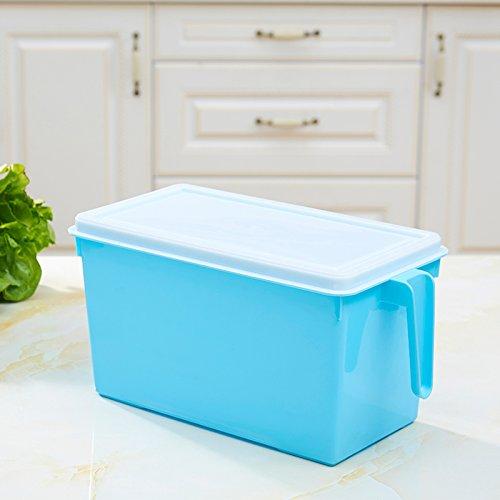 Storage Jar/Container/Aufbewahrungsboxen, die Lagerung von Lebensmitteln Tupperware Müsli kühlschrank Behälter für Obst und Gemüse mit Kunststoff Dichtung Topf, Blau