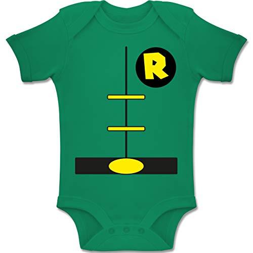 Shirtracer Karneval und Fasching Baby - Superheld Kostüm Kind - 12-18 Monate - Grün - BZ10 - Baby Body Kurzarm Jungen Mädchen (Grüne Superheld Kostüm)