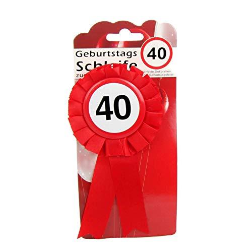 Top Ten Geburtstags - Schleife 40 Button inkl. Sicherheitsnadel Abzeichen zum anstecken oder Dekoration Party
