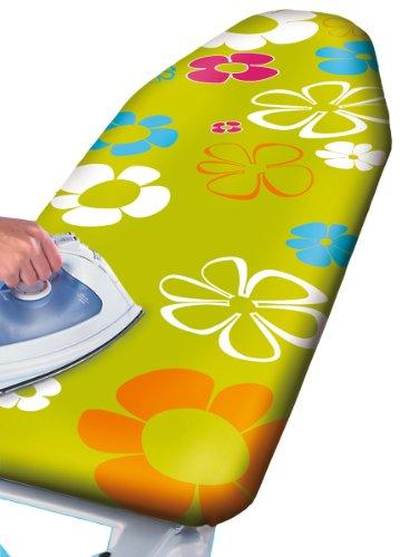 wenko-1236645500-green-flowers-funda-de-algodn-para-tabla-de-planchar-con-acolchado-lavable-revestim