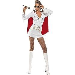 Smiffy's - Disfraz de Elvis para mujer, talla UK 8 - 10 (33252S)