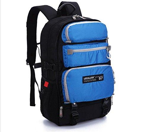 Zaino da montagna all'aperto sportivo borsa multifunzione borsa multifunzione borsa computer per il computer borsa multiuso studentesca 30l, blue