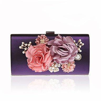 pwne L. In West Frau'S Südkorea'S Handgemachten Blumen Weiblichen Tasche Luxus Bankettabendessen Hand Tasche Tasche Purple