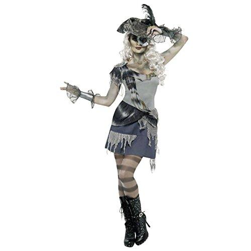 Girl Dead Kostüme (Horror Piratenbraut Kostüm Damen -)