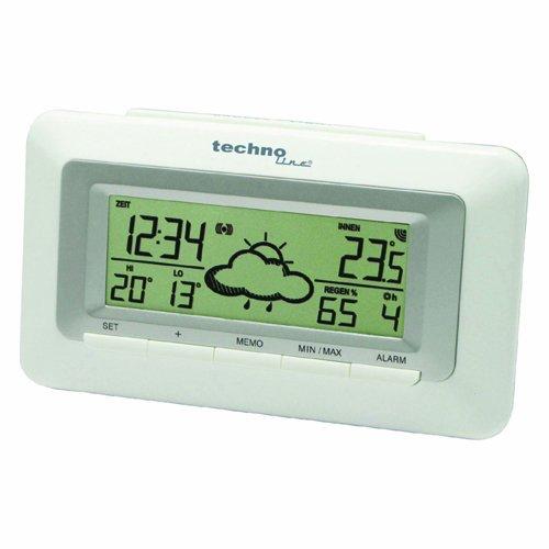Technoline WetterDirekt Wecker WD 1080 mit Innentemperaturanzeige und Wettervorhersage