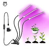 OUMMET Lampe de Plante 27W, Lampe de Croissance Lampe Horticole à Trois Têtes avec Cou de Cygne Flexible 360°,équipée de 57 LEDs,Parfait pour Plantes,Fleurs,et Légumes Intérieur.(27W)