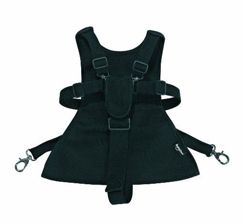 Baby Dan 3020-11-85 Sicherheitsgurt für Kinderwagen/Lux-harness, schwarz 6-36 Monaten