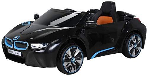 Actionbikes Motors NEU Kinder Elektroauto Lizenzierter Original BMW I8 mit 2 x 45 Watt Motor Elektro Kinderauto Kinderfahrzeug (Schwarz)