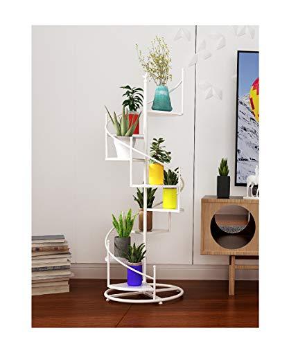 HU Ferro da Stiro Multi-Strato Indoor Living Room Casa Balcone Piano Girevole Flower Stand 40cmX Larghezza 19cmX Altezza 122cm (Colore : Bianca)