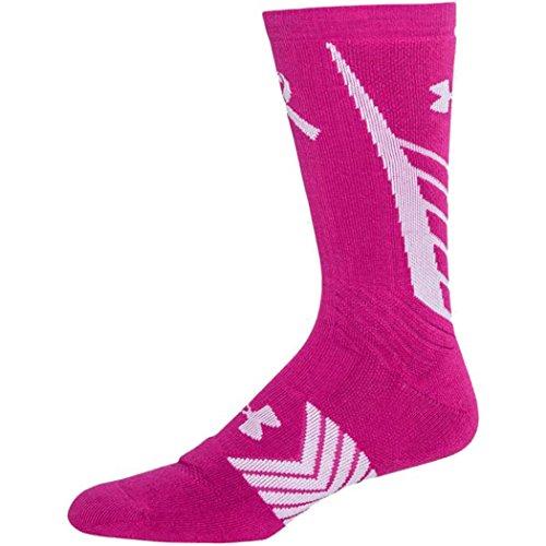 Under Armour Under Armour UA Power in Pink Calcetines Innegables para Hombre LG (Calzado de Hombre 9-12.5, Calzado de Mujer 11-13) Tropic Pink