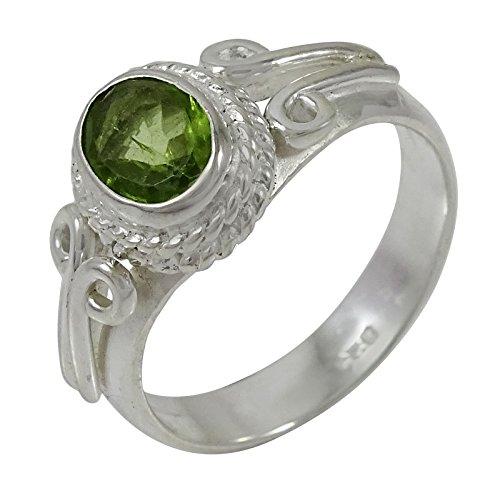 Silber Designer Peridotedelstein Ringband Modeschmuck (Designer Modeschmuck)