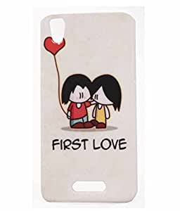 First Love Exculsive Rubberised Back Case Cover For Lava Iris X1 Atom