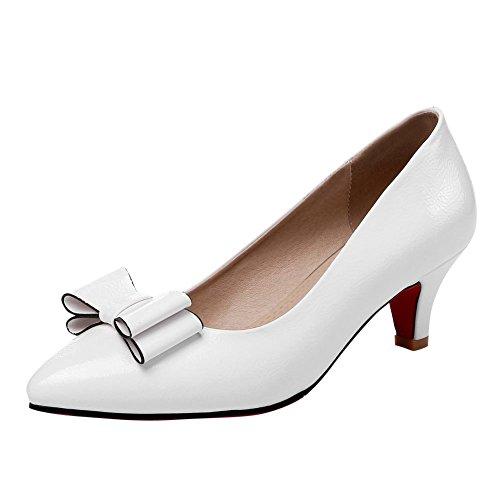 Mee Shoes Damen süß high heels spitz Pumps Weiß UpLFL