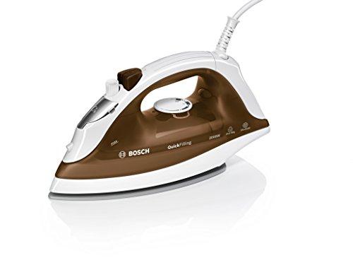 Bosch TDA2360 QuickFilling   Plancha de vapor  2.000 W  golpe de vapor 80 g  base Inox Glissèe  marrón y blanco